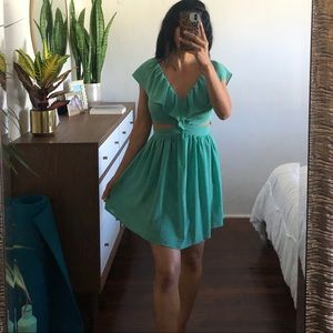 CUTE TEAL DRESS WITH CUTOUTS FROM NORDSTROM